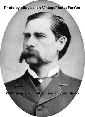 Beautiful 1923 Sheriff Gunfighter Wyatt Earp Glossy 8x10 Photo Old West Portrait Poster Collectibles