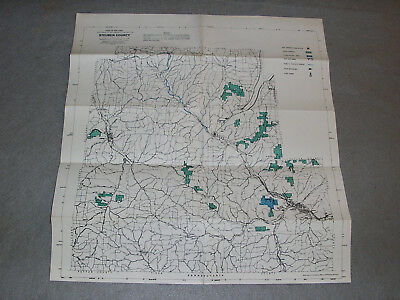 Steuben County New York State Environmental Conservation Topography Roads Map
