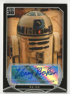 Kenny Baker as R2-D2 2007 Topps Star Wars 30th Anniversary Autograph Card Auto