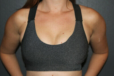 Pole Dance Dark Grey Marle V Sports Bra