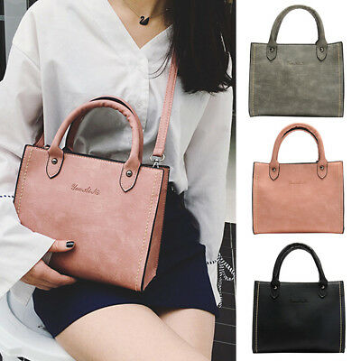 Fashion Women's Solid Leather Shoulder Bags With Corssbody Bag Casual Handbag