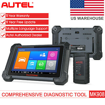 Autel MaxiCOM MK908 OBD2 Car Diagnostic Scanner Tool ECU Coding Better MS908 US