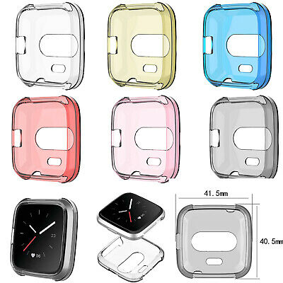 6X TPU Shell Gurad Case Screen Protector Frame for Fitbit Versa Lite Smart Watch