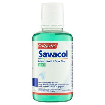 NEW Colgate Toothpaste Savacol Rinse Mint Reduces Formation Of Plaque 300ml