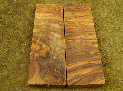 "5"" Pair of Burl Rose Wood Scales Knife Handle Making Blank Bush Crafts (600-21"