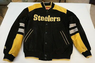 Hot G III APPAREL NFL Pittsburgh Steelers Mens Suede Leather Embroidered