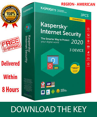 Kaspersky INTERNET Security 2019 3 Device/ For AMERICA /1 Year / PC-Mac-Android