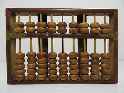 Vintage Lotus Flower Brand Abacus Peoples Republic Of China 9 Rods