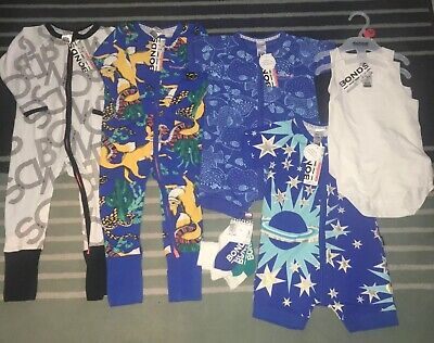 NEW Bonds Clothing Bulk Bundle Wondersuits Size 1 (12–18 Months) FREE POSTAGE