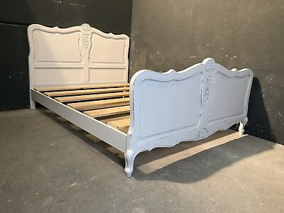 Vintage French King size bed/ Painted French bed (VB337)
