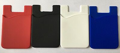 4 x Smart Silicone Mobile Phone Wallet Card Stick On Cash Credit Card Holder