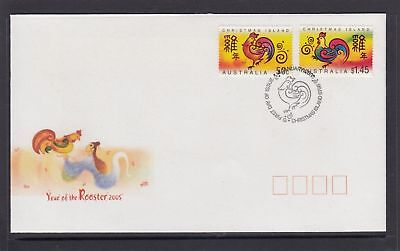 2005 Christmas Island Year of the Rooster FDC