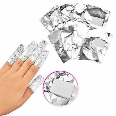 100 Nail Foils Gel WRAPS POLISH Remover ART SOAK OFF ACRYLIC REMOVAL NO ACETONE