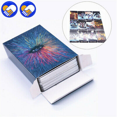 Deck 79 Tarot Cards English Silver Playing Board Game Divination Colorful box