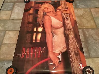 1997 Neriah Davis Playmate wet shirt big boobs vintage pin up poster 23 X 35