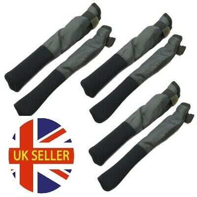 3 Pairs Of Ngt Green Tip And Butt Carp Fishing Rod Protector Sleeves Post Free