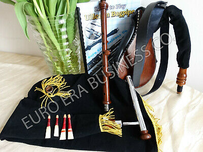 New Irish Uilleann Practice Set With Tutor Book & Bag, Learn To Play