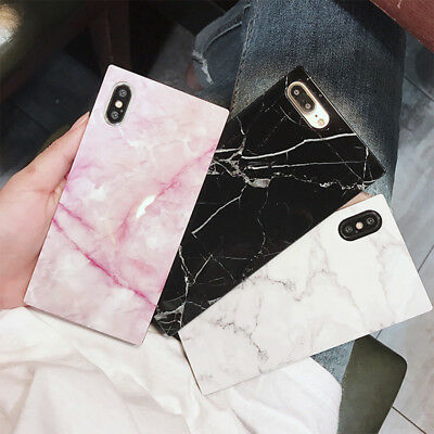 3D Granite Luxury Marble Square Phone Case Cover For iPhone 6 7 8 Plus XS MAX XR