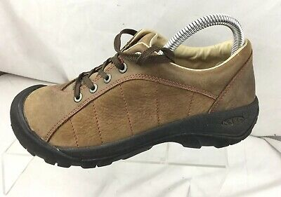 81d18d7d6b71 KEEN Presidio 5322 Brown Nubuck Leather Hiking Walking Shoes Women s US Size  7.5