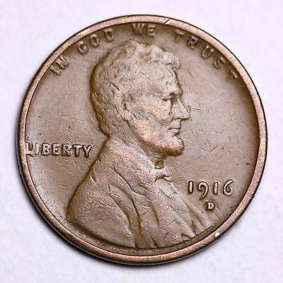 1916-D Lincoln Wheat Cent Penny LOWEST PRICES ON THE BAY!  FREE SHIPPING!
