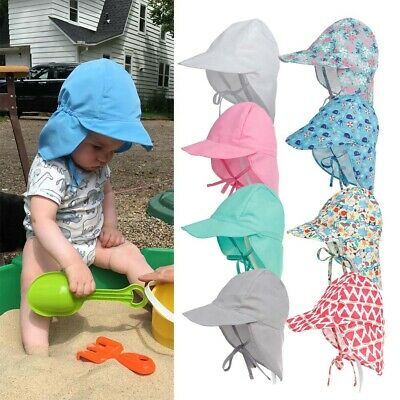 BABY BOYS GIRL Summer Legionnaire Sun Hat Neck Flap Hat UV Protection  Cotton Cap