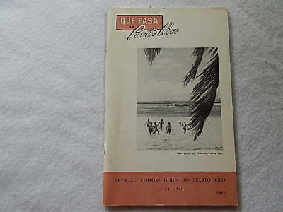 Que Pasa in Puerto Rico-May 1960--Official Visitors Guide