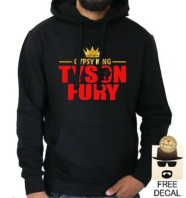 2a365fcbe08 Tyson Fury Mens Hoodie Gypsy King Boxing Champion Gym Training Black Jumper  Top