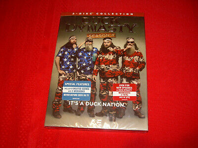 2013 The Complete Fourth Season 4 Four Sealed New DUCK DYNASTY DVD 2-Disc Set