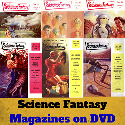 Science Fantasy Magazines - 91 PDF Science Fiction Pulp Magazines on Data DVD