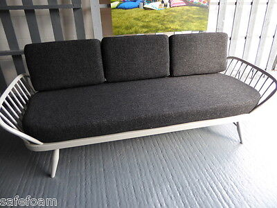 Cushions & Covers Only. Ercol Studio Couch/Daybed.  Charcoal Grey Stitch  FL768