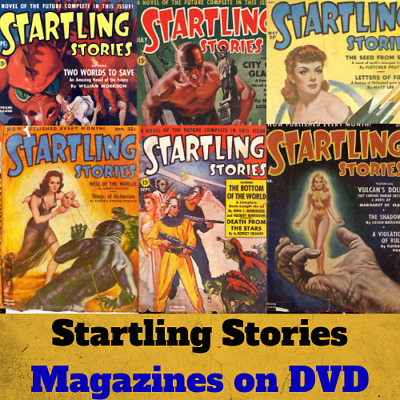 Startling Stories Collection - 88 PDF Pulp Science Fiction Magazines on DVD