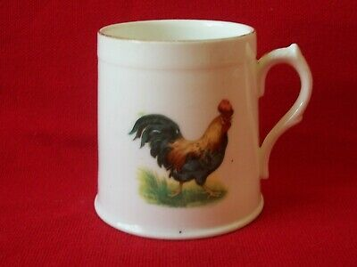 Vintage / Old Porcelain Bone China Small Cup with Chicken / Hen / Rooster