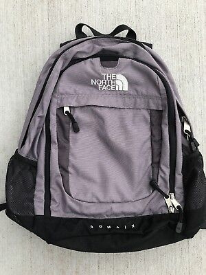 8e465329d96 The North Face Domain Gray Black Backpack Hiking School Camping Pack Free  Ship!