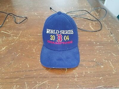5f2825d6102 ONE SIZE FITS All BOSTON RED SOX 2004 WORLD SERIES CHAMPIONS HAT CAP ...