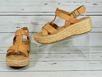 0f73efd729 KORKS Kork Ease Tan Leather Strappy Wedge Sandals Womens Sz 9 M Shoes EUC