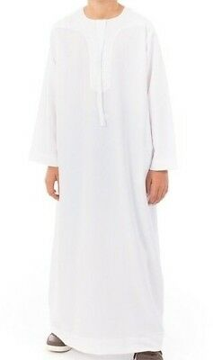 Thobe, Robe Daffah, Dishdasha Islamic Arabian Kaftan BOYS OMANI Style clothing
