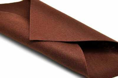 Feutrine 1 mm Polyester 24 x 30 cm Marron - Sodertex