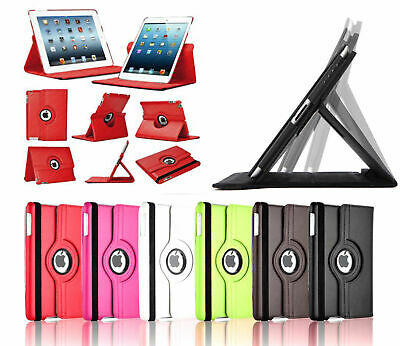 For Apple iPad 2/3/4 2017/2018 Air 2 9.7'' 360 Degree Rotating Smart Case Cover