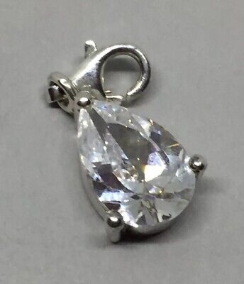 Authentic Thomas Sabo Sterling Silver Sparkling Teardrop Clear CZ Stone Charm