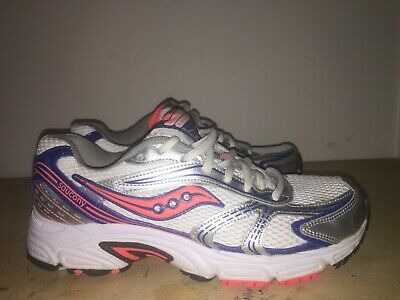 4b835be035f6 SAUCONY Women's OASIS 15096-25 Running Training Shoes Wht/Blue/Orange Size  8.5