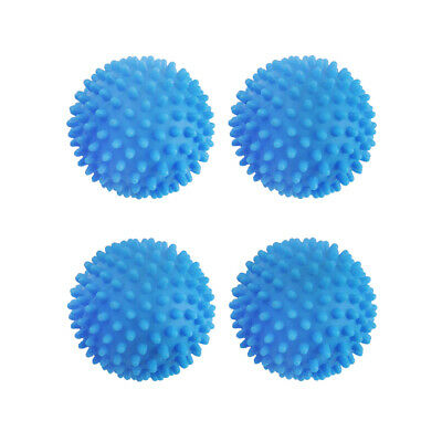Blue Reusable Laundry Wash Dryer Balls Laundry Drying Fabric Softener Clean Home