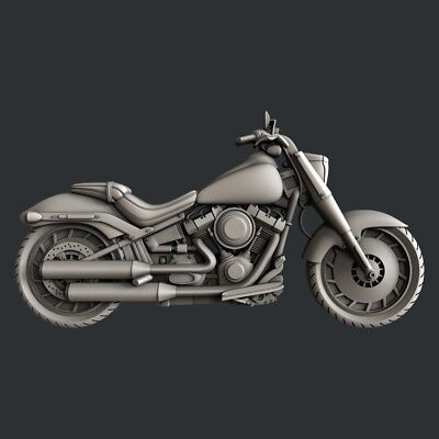 3d STL models for CNC, Artcam, Aspire, Motorcycle