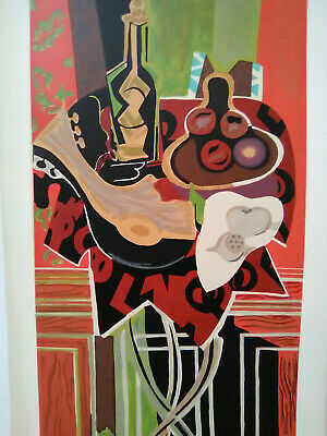 "SUPER RARE! ORIGINAL Georges Braque Serigraph Print ""The Red Table"" NEVER FRAMED"
