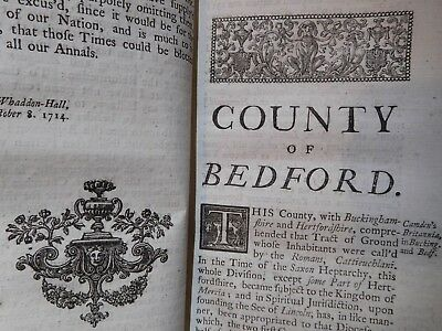 1730 History Of The Counties Of England - Notitia Parliamentaria - Browne Willis