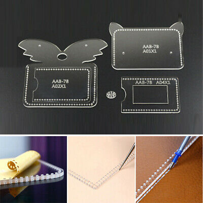 Transparent Acrylic Wallet Pattern Stencil Template Set Fox Shaped Leather Craft