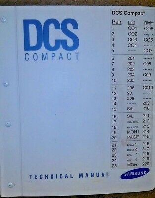Samsung Prostar DCS COMPACT phone system  technical manual  hard to find MT1057