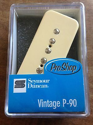 Seymour Duncan Vintage P-90 Soapbar Neck Pickup Creme Cover SP90-1n 11301-05-Crc