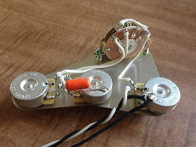 Electronic Wiring Harness for Fender Stratocaster 250k CTS Pot Orange Drop 5 Way