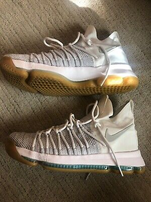91e6a813334c Nike Zoom KD 9 Elite Grey Ivory Basketball Shoes Men s Size 10.5 Very Good  Cond