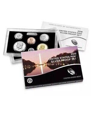 2019 Silver Proof Set Complete And COA W Penny